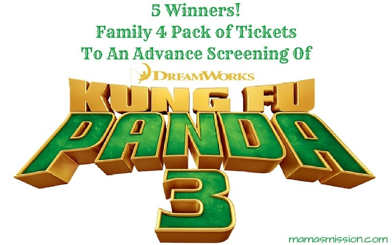 Kung Fu Panda 3 Advance Screening Ticket Giveaway