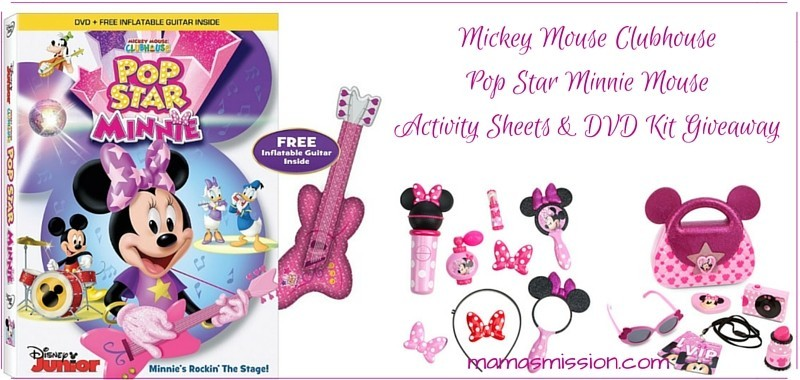 Mickey Mouse Clubhouse Pop Star Minnie Activity Sheets & DVD Giveaway