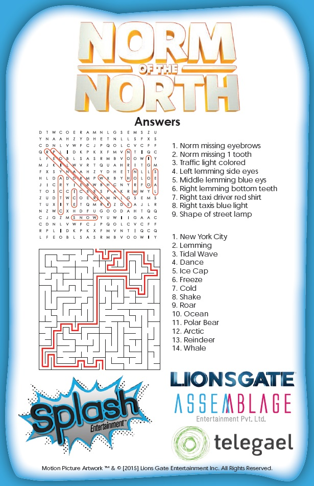 Norm of the North Activity Pages Answers