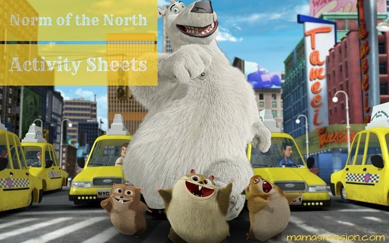 Norm of the North Activity Sheets Free Printables