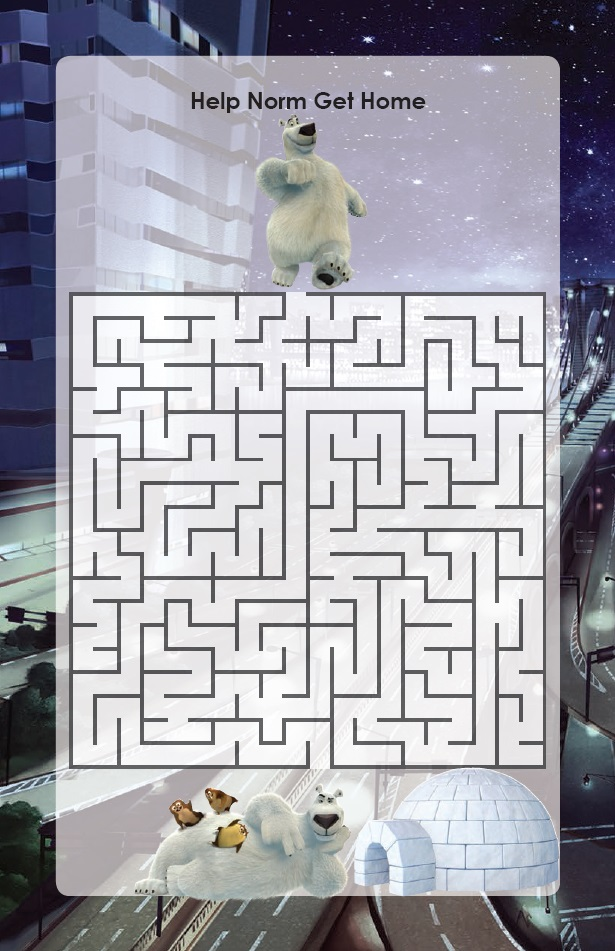 Norm of the North Help Norm Get Home Maze