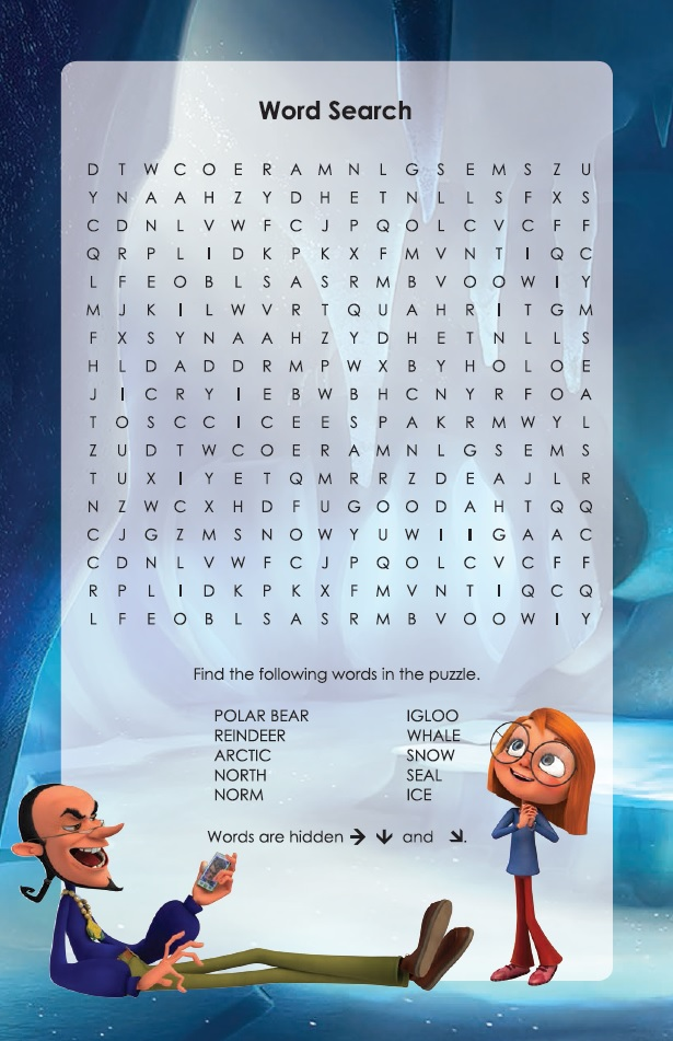 Norm of the North Word Search Puzzle