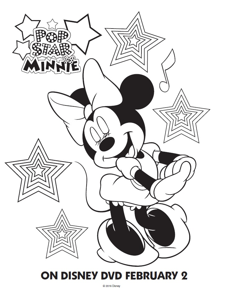 mickey mouse printables coloring pages - pop star minnie mouse printable coloring pages friends
