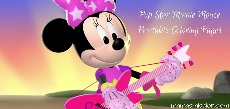 Pop Star Minnie Mouse Printable Coloring Pages