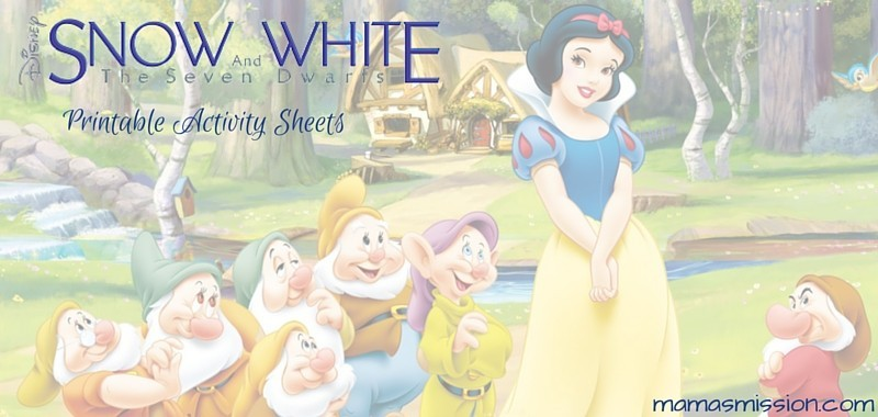 Snow White and the Seven Dwarfs Printable Activity Sheets
