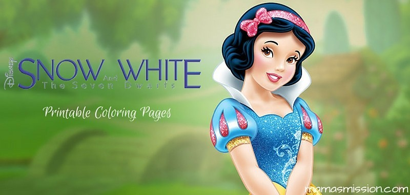 Disneys Snow White And The Seven Dwarfs Printable Coloring Pages