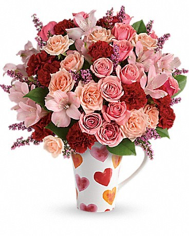 Teleflora's Lovely Hearts Bouquet Love Note Concierge Last Minute Valentines Day Gifts