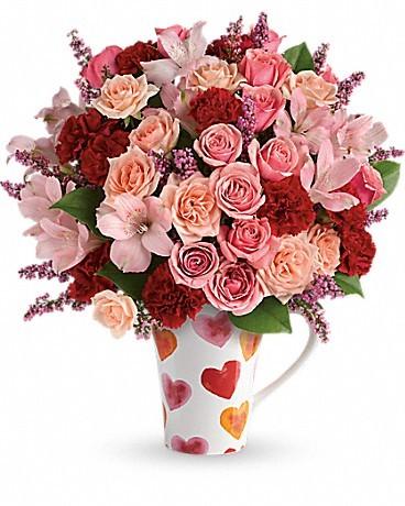Teleflora's Lovely Hearts Bouquet Love Note Concierge