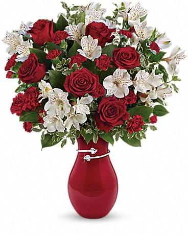 Teleflora's Pair Of Hearts Bouquet Love Note Concierge