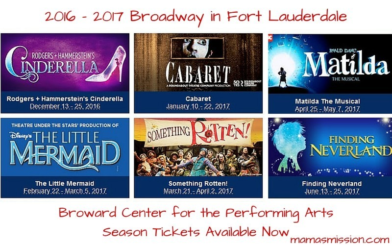 2016-2017 Broadway in Fort Lauderdale Season Announced