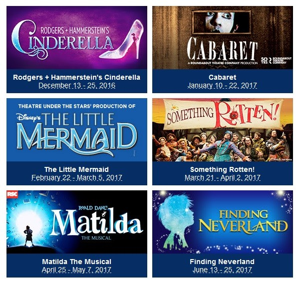2016-2017 Broadway in Fort Lauderdale Season at the Broward Center for the Performing Arts