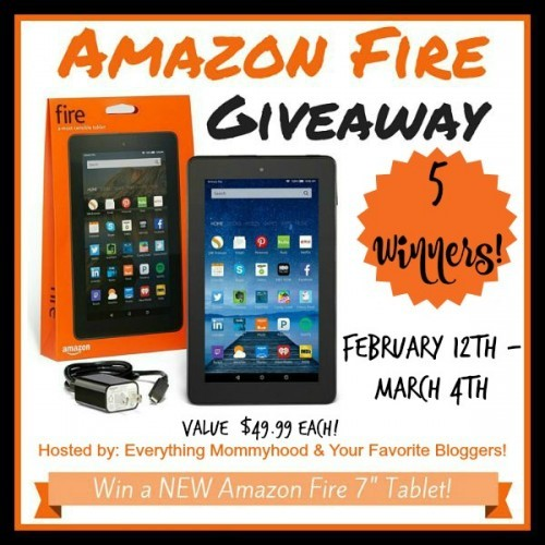 5 Amazon Fire Tablets Giveaway
