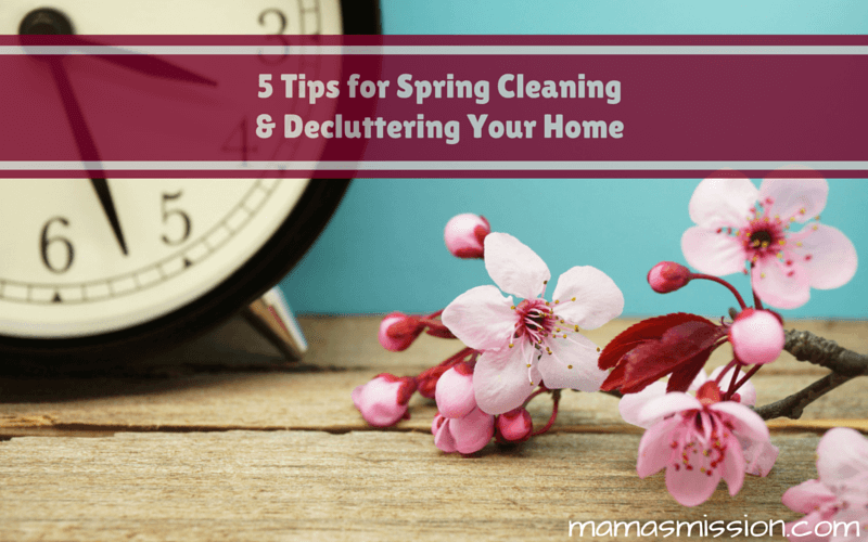 Spring cleaning doesn't have to be difficult. To make things easier on you, here are 5 Tips for Spring Cleaning and Decluttering Your Home!