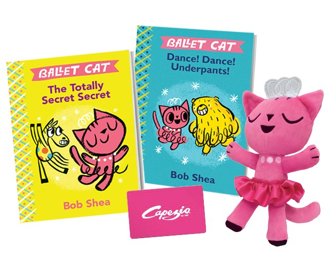 Ballet Cat Book Series Capezio Gift Card and Ballet Cat Plush Prize Pack