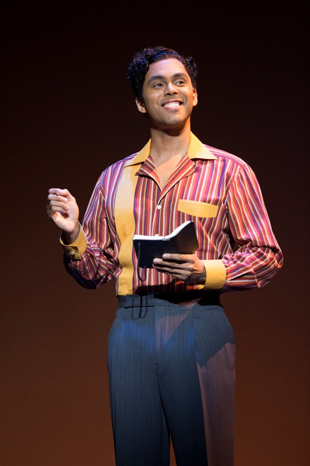 Jesse Nager as Smokey Robinson. MOTOWN THE MUSICAL First National Tour. (C) Joan Marcus, 2015