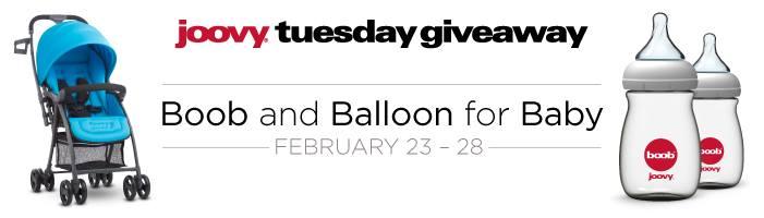 Joovy Boob and Balloon for Baby Joovy Tuesday Giveaway
