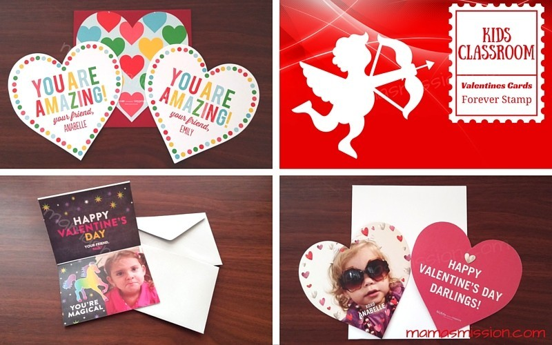 Personalized Kids Classroom Valentines Day Cards