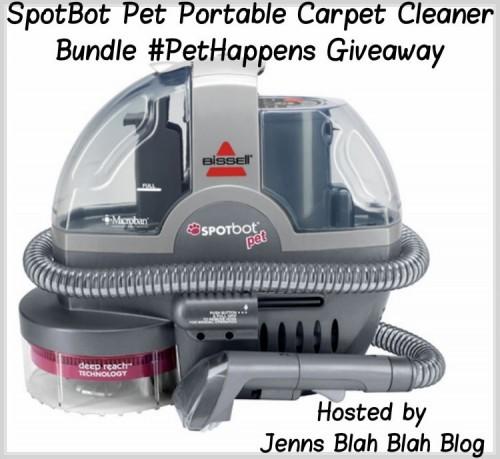 SpotBot Pet Portable Carpet Cleaner Bundle Giveaway