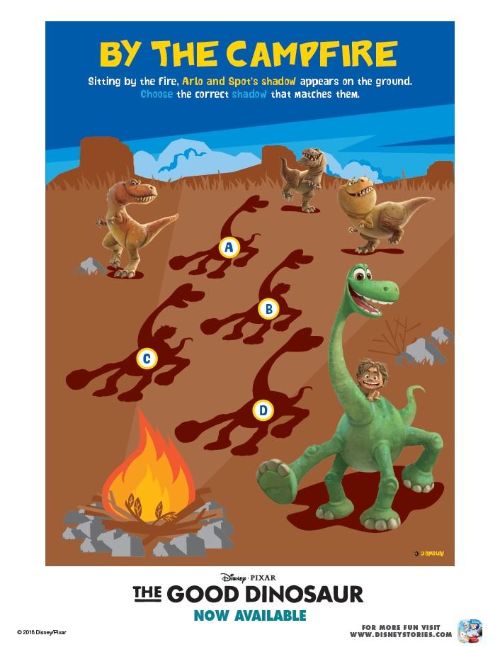 The Good Dinosaur Activity Sheet By Campfire