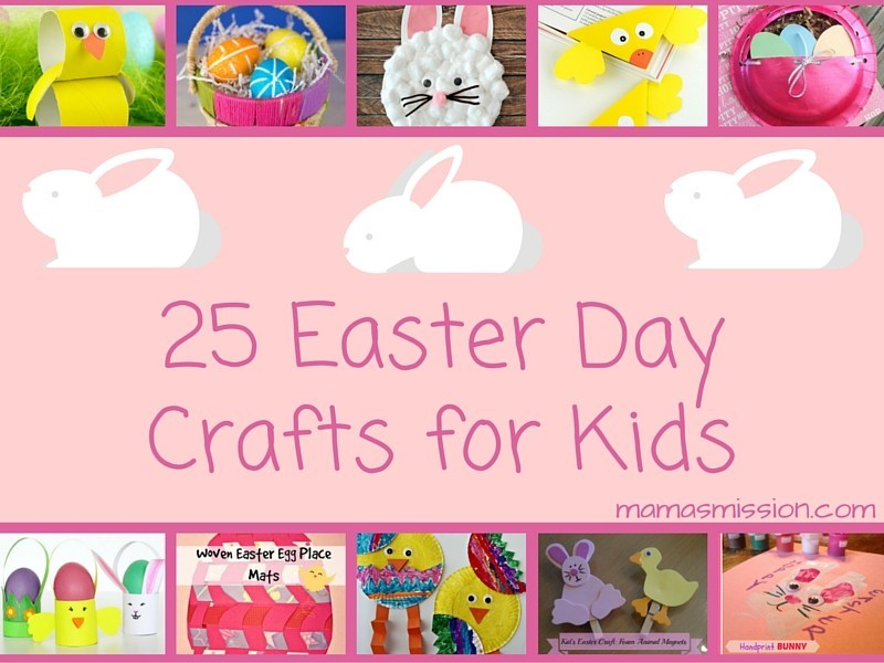 It's time to get crafting with the kids! These 25 fun and easy Easter Day crafts for kids are perfect for a craft day and to learn about the holiday.