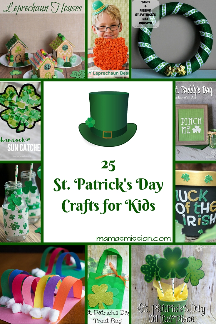 It's time to get crafting with the kids! These 25 fun and easy St. Patrick's Day crafts for kids are perfect for a craft day and to learn about the holiday.