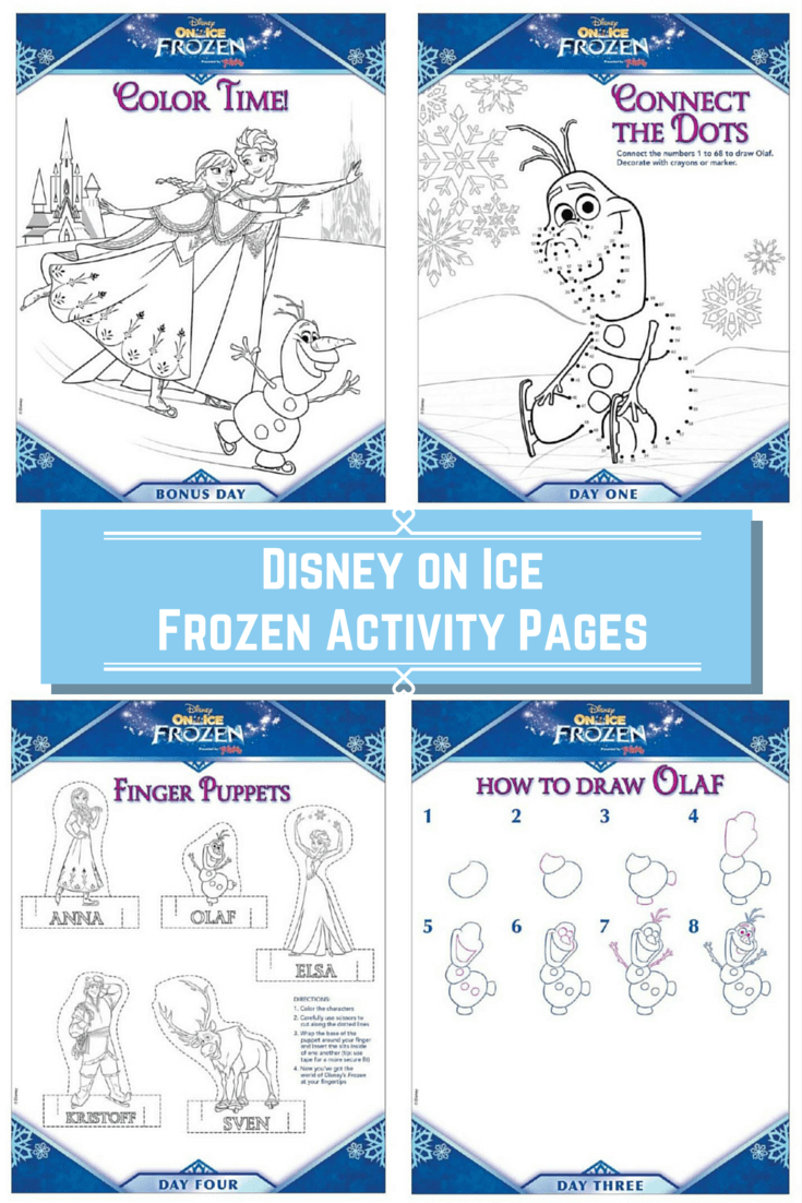Disney Frozen Activity Pages from Disney on Ice