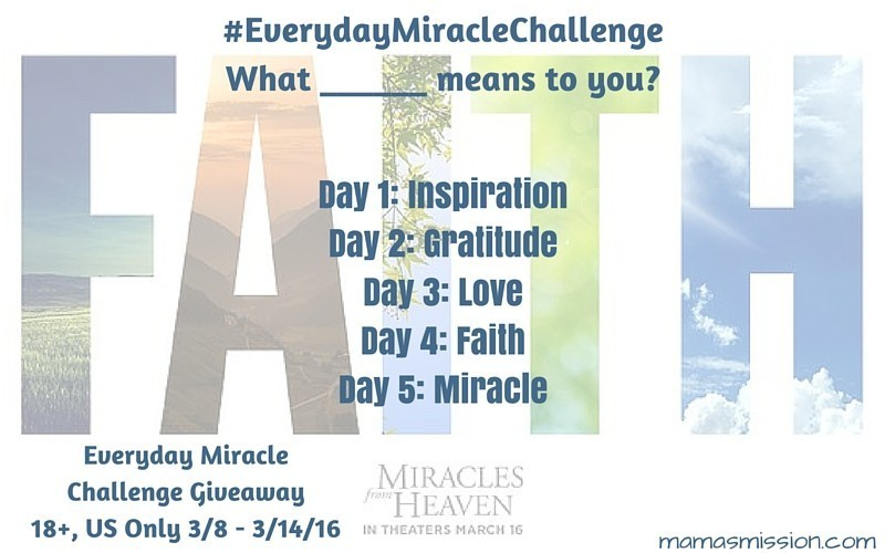 Do you believe in miracles? Join the Everyday Miracle Challenge giveaway to help you discover miracles in your everyday life!