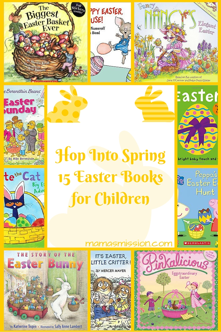 Hop into spring! With Easter around the corner, it's time to get reading again and your little one will surely enjoy these 15 Easter Books for Children.
