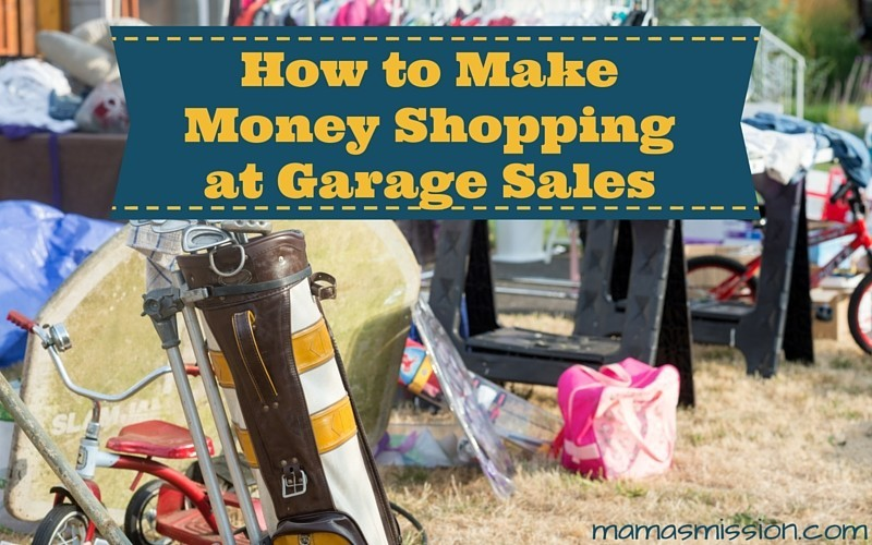 With spring and summer around the corner, the next six months is a great time to learn how to make money shopping at garage sales with these tips.