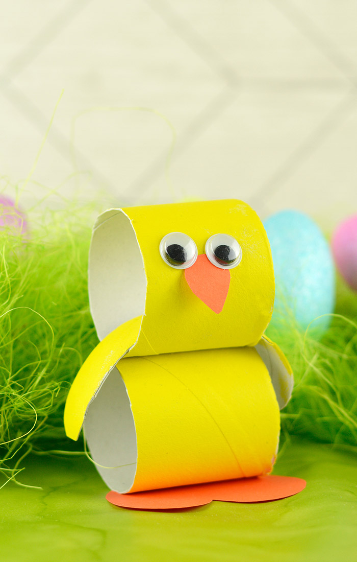 Paper Roll Chick Easter Craft
