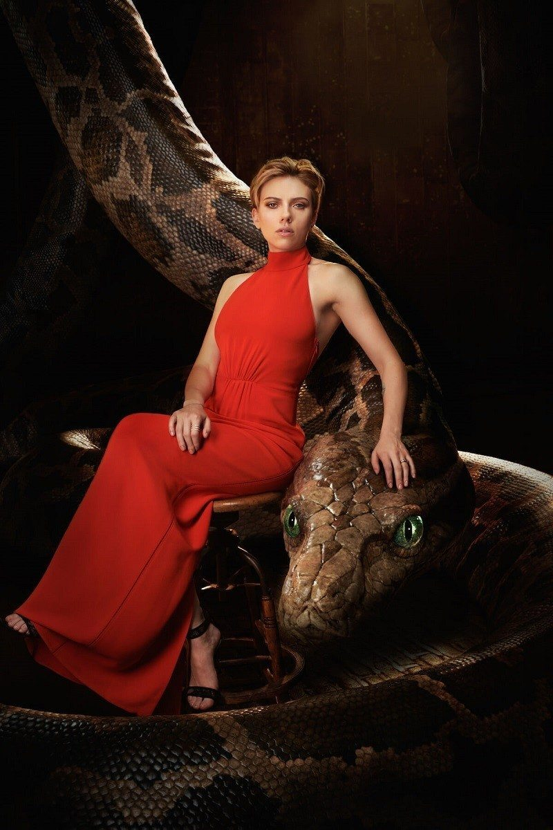 Scarlett Johansson - Kaa Take a peek into Disney's The Jungle Book Intro to Shere Khan film clip for a sneak preview of what's to come in theaters everywhere on April 15, 2016.