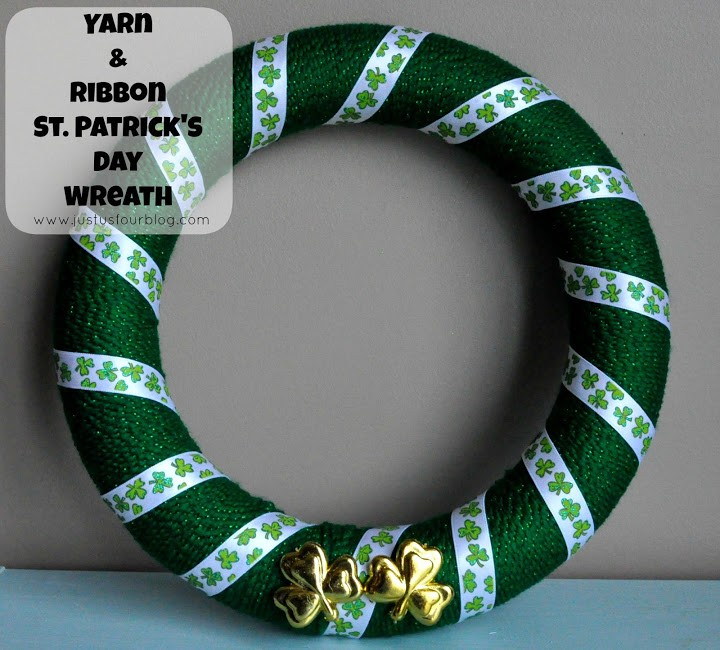 St Patrick's Day Crafts – Yarn Wreath