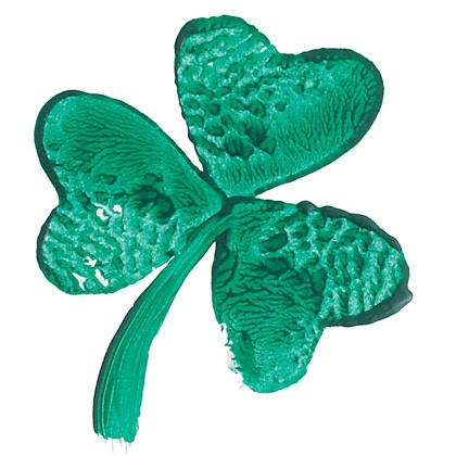 St Patricks Day Craft – Green Shamrock Stamp