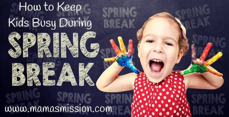 Not sure what to do now that the kids are on break? Here are some ideas on how to keep the kids busy during spring break so they won't get bored!