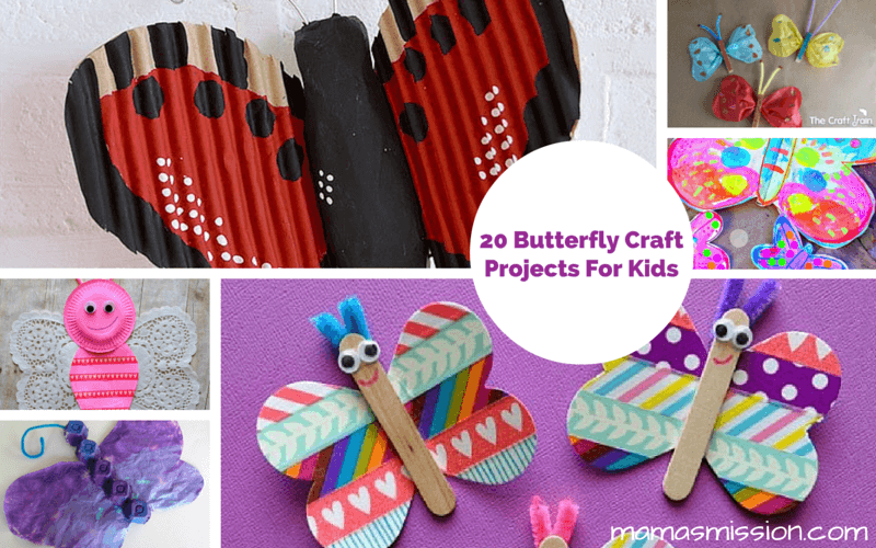 20 Butterfly Craft Projects for Kids to Make