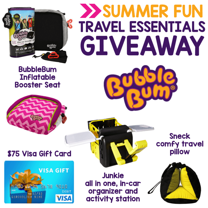 The summer fun is about to begin! How about a $75 Visa Gift Card & BubbleBum Prize Pack to assist you in your warm weather adventures?