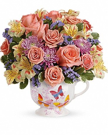 Do you know One Tough Mother? Honor that special woman in your life this Mother's Day with a bouquet from Teleflora. Enter to win Mother's Day flowers! Butterfly Sunrise Bouquet