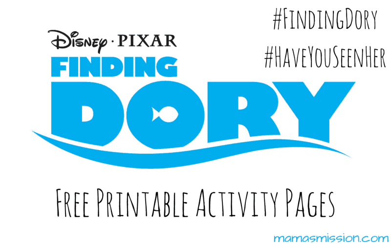 Finding Dory Printable Activity Pages are now available to download and print for free! Get your Finding Dory printable activity pages here. Finding Dory Activity Pages