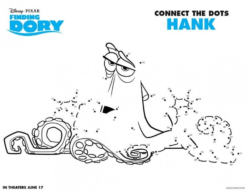 Finding Dory Printable Activity Pages are now available to download and print for free! Get your Finding Dory printable activity pages here. Finding Dory Connect the Dots Hank