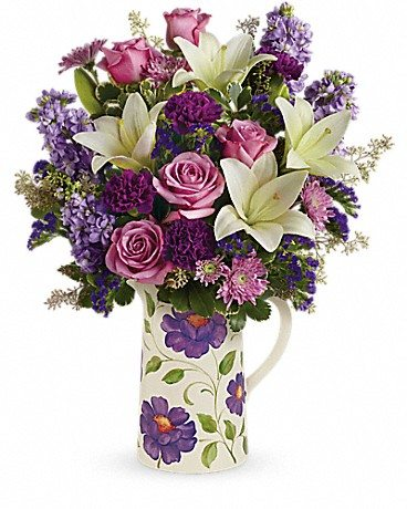 Do you know One Tough Mother? Honor that special woman in your life this Mother's Day with a bouquet from Teleflora. Enter to win Mother's Day flowers! Garden Pitcher Bouquet