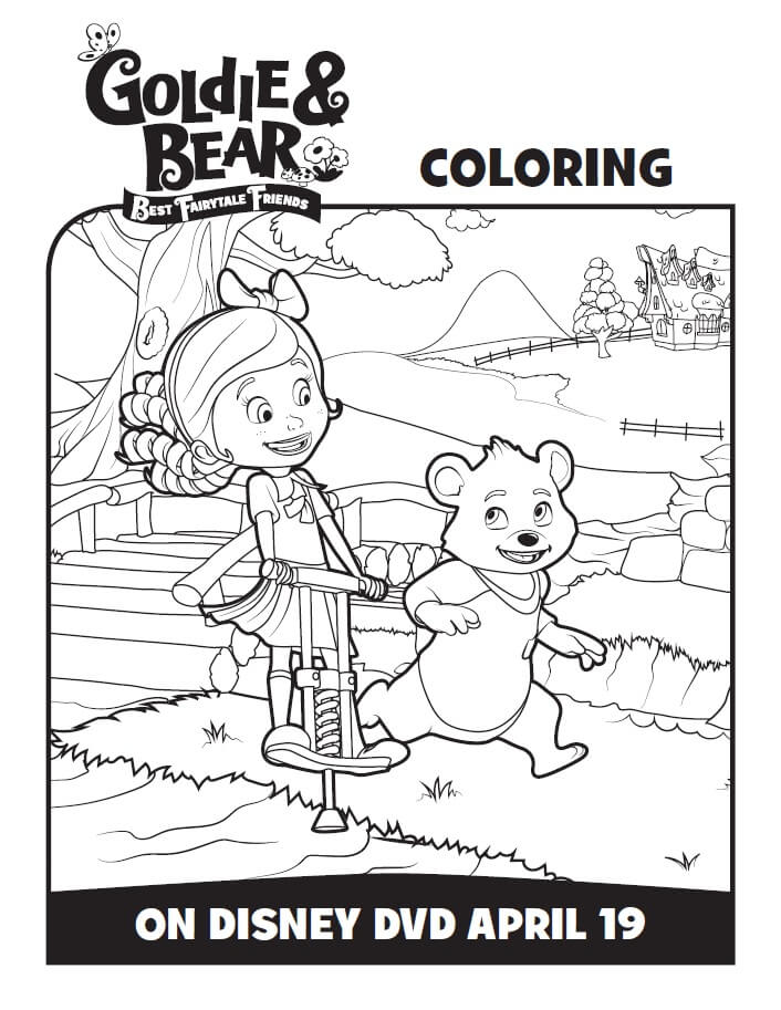 Disney Junior Goldie and Bear Coloring