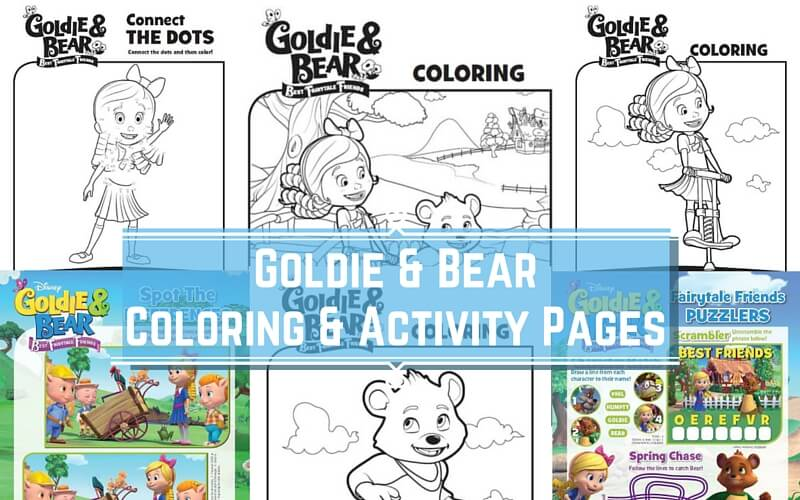 goldie and bear coloring pages Disney Junior Goldie and Bear Coloring Pages & Activity Sheets goldie and bear coloring pages