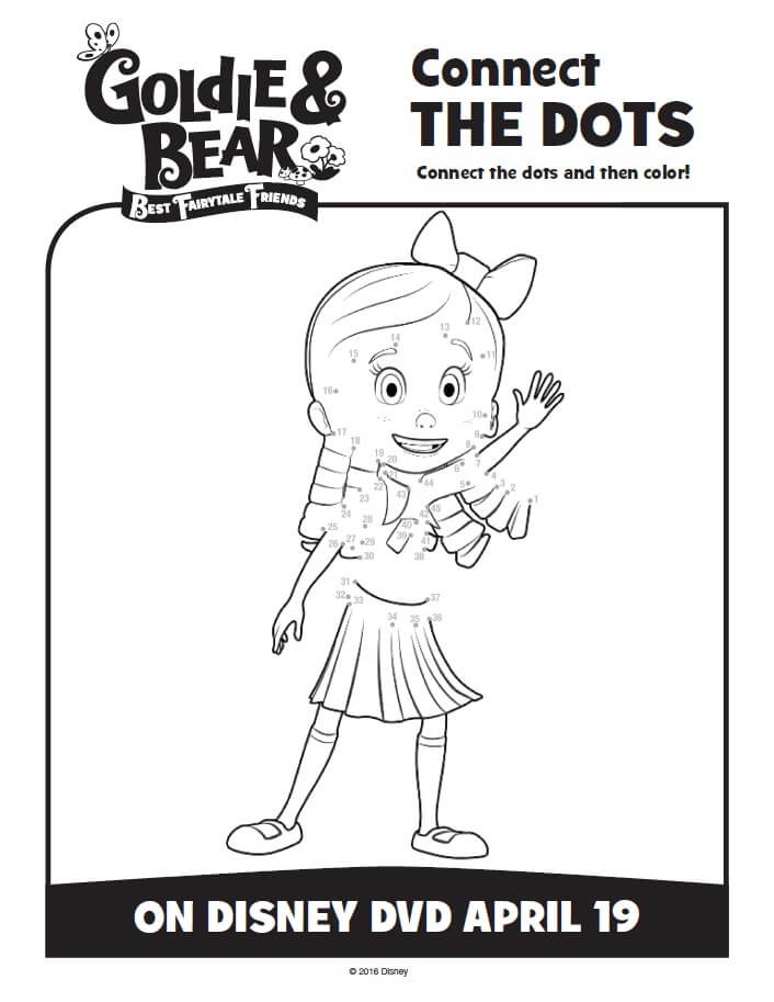 Disney Junior Goldie and Bear Coloring Pages Activity Sheets