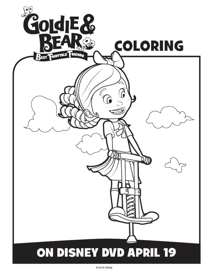 Join Goldie Bear On A Fun Adventure Have Coloring These And