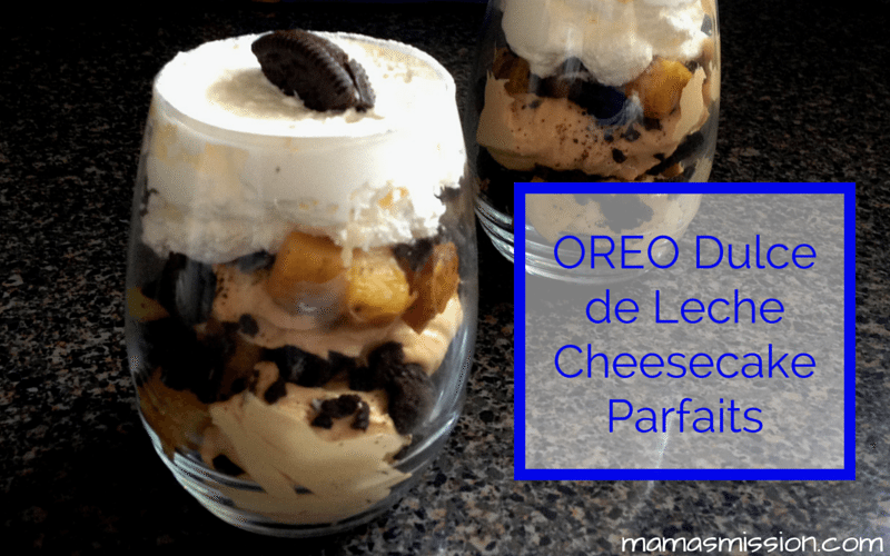 These delicious and easy to make OREO Dulce de Leche Cheesecake Parfaits are perfect for a Spring snack! How do you Turn Up The Yum?