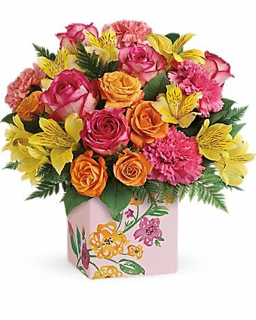 Do you know One Tough Mother? Honor that special woman in your life this Mother's Day with a bouquet from Teleflora. Enter to win Mother's Day flowers! Painted Blossoms Bouquet