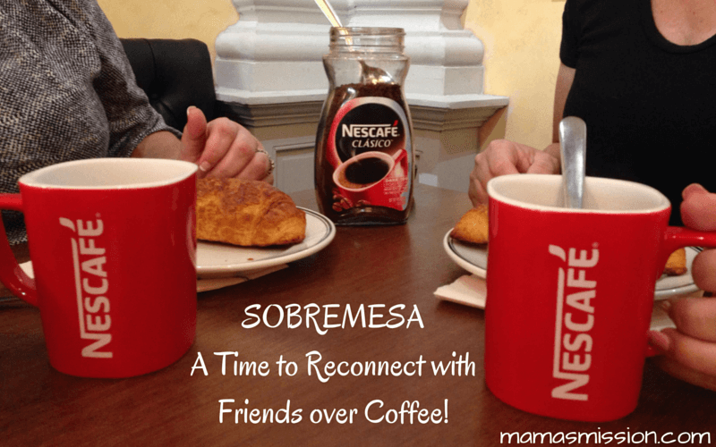 Reconnecting with friends is as simple as bringing everyone together for a Sobremesa, it's the after-meal table talk that opens the conversation.