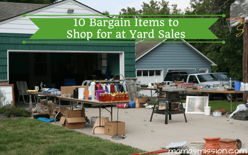 Do you know what to avoid and what to buy? Here are 10 items to shop for at yard sales that normally cost a fortune but you can get for a bargain!