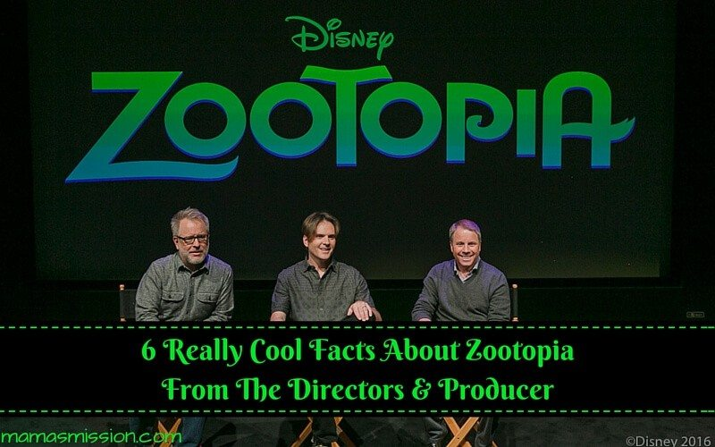 I attended the Zootopia In-Home Release Press Junket and learned 6 really cool facts about Zootopia from the Directors & Producer to share with you!
