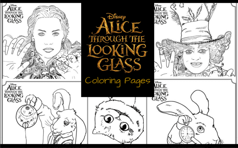 Alice Through The Looking Glass Coloring Pages